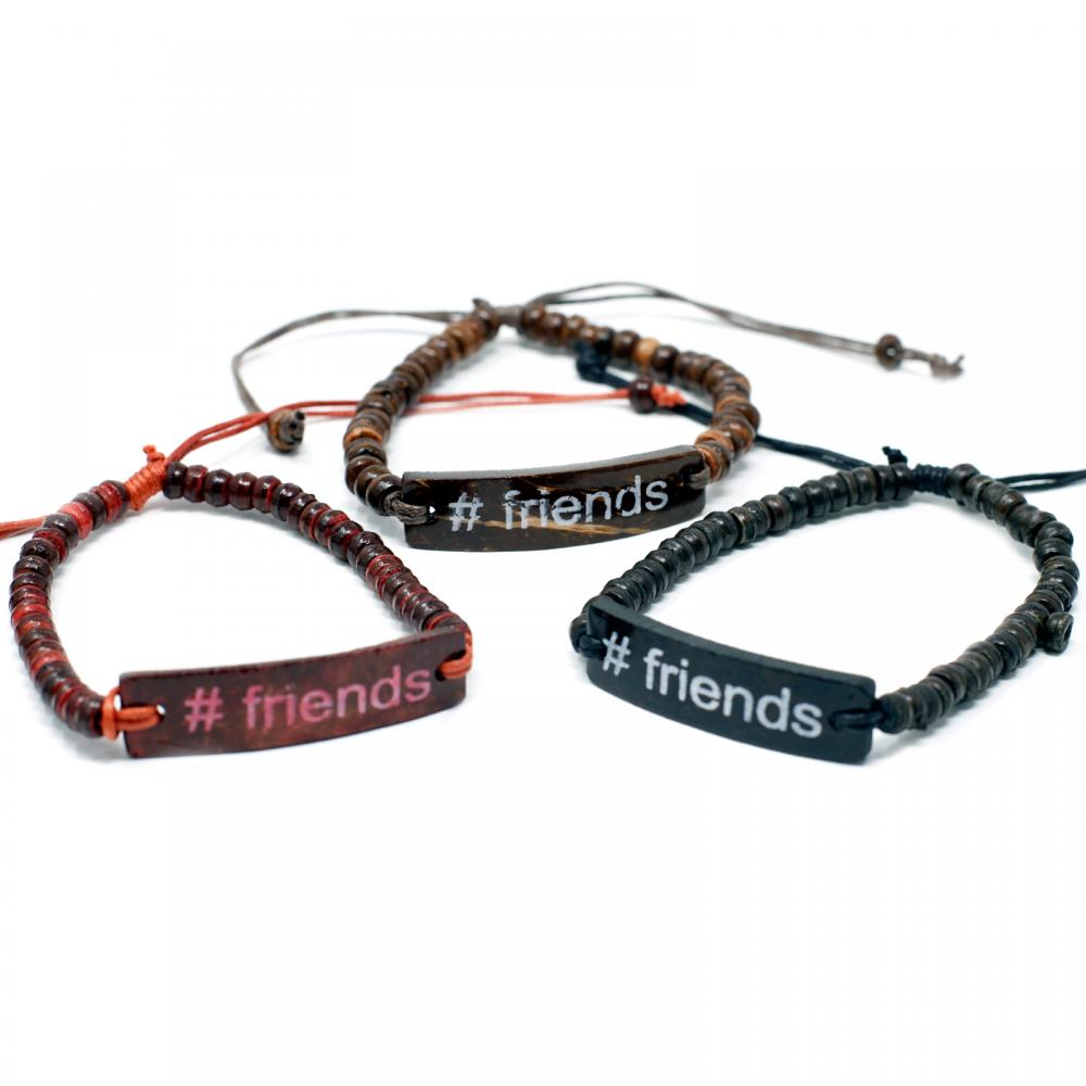 Coco Slogan Bracelets - #Friends