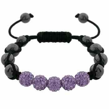 Bracelet with Beautiful shade of Light Violet Purple Crystal