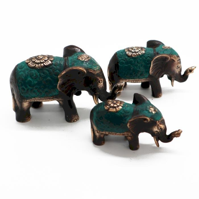 Set of 3 - Lucky Elephants (asst sizes)