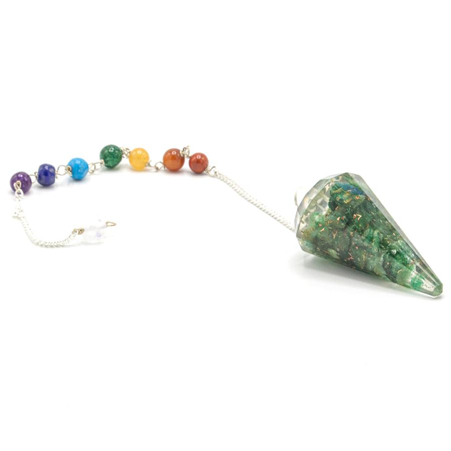 Orgonite Power Chakra Pendulum - Green Aventurine