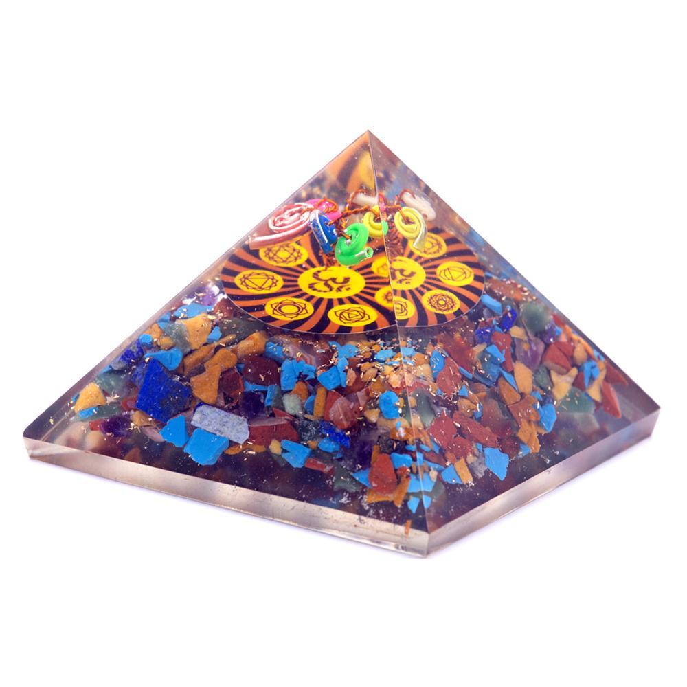 Orgonite Pyramid - Om Chakra - 70 mm
