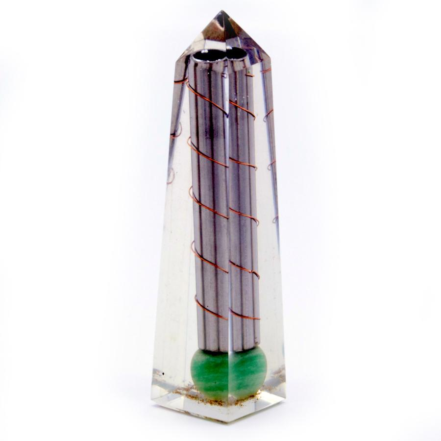 Orgonite Obelisk Power Point Green Aventurine - 110x30 mm