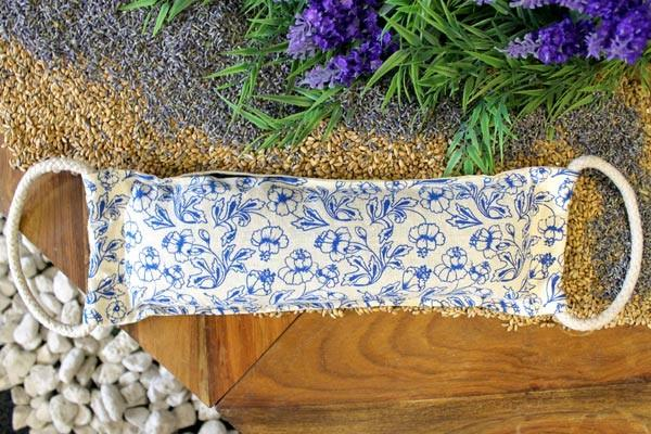 Natural Cotton Wheat Bags - Blue