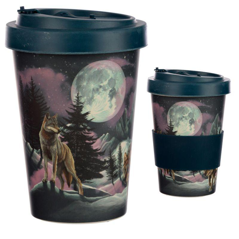Wolf Reusable Screw Top Bamboo Composite Travel Mug