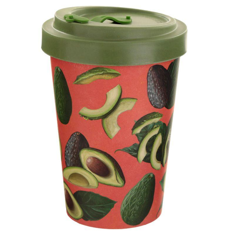 Avocado Reusable Screw Top Bamboo Composite Travel Mug