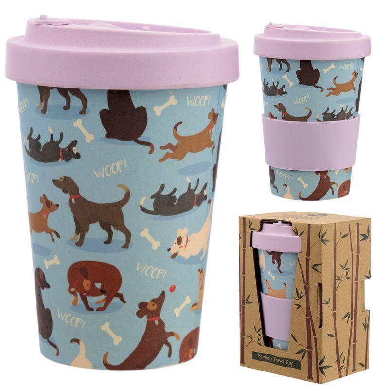 Catch Patch Dog Reusable Screw Top Bamboo Composite Travel Mug