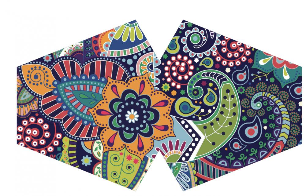 Reusable Fashion Face Mask - Funky Swirls (Adult)
