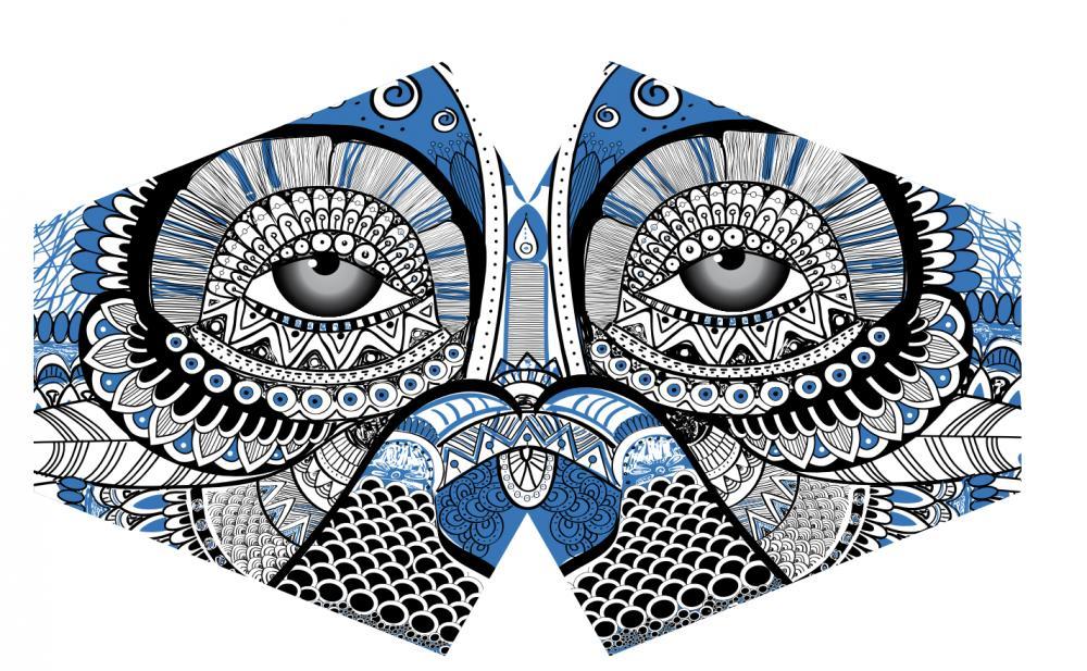 Reusable Fashion Face Mask - Mystical Owl (Adult)