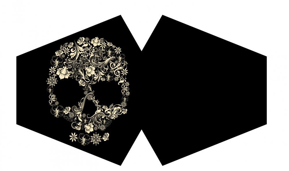 Reusable Fashion Face Mask - Flower Skull (Adult)