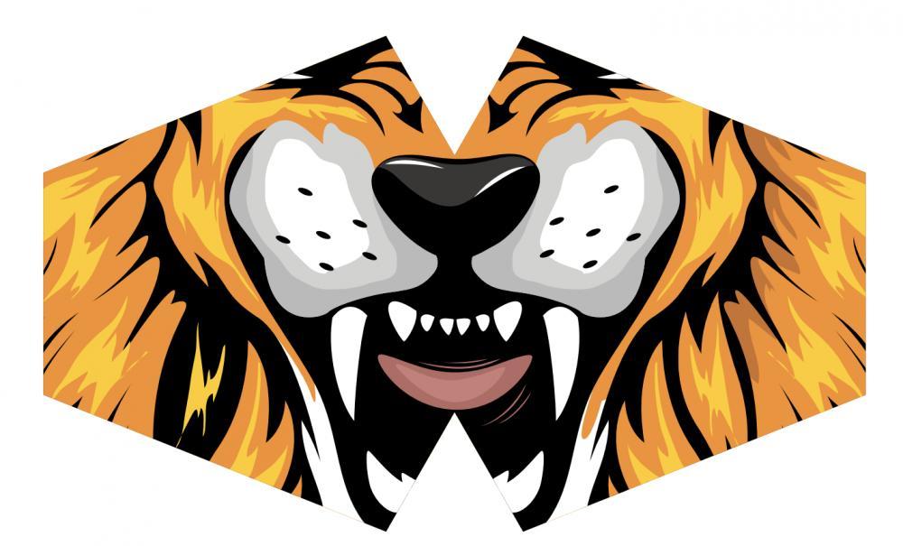 Reusable Fashion Face Mask - Tiger (Adult)