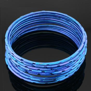 Set of Twelve Bright Blue Bangles