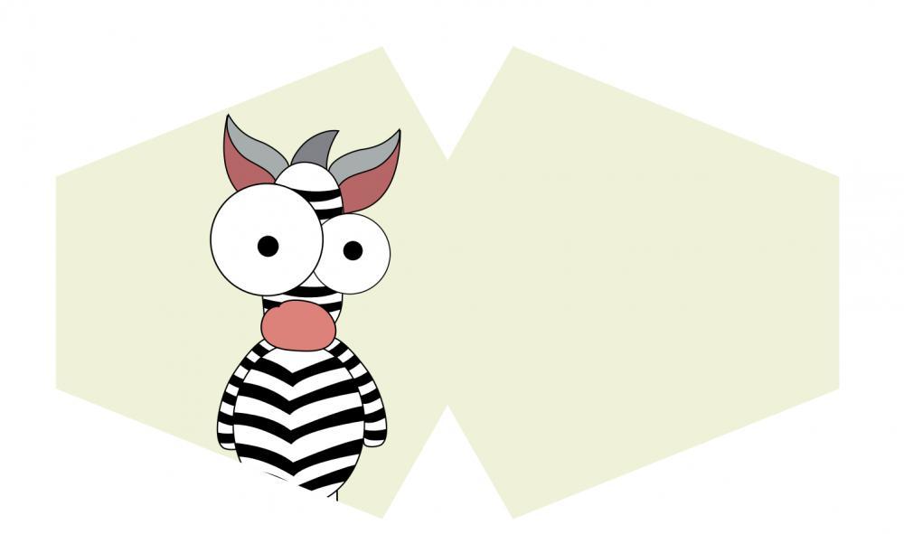 Reusable Fashion Face Mask - Crazy Zebra (Children)