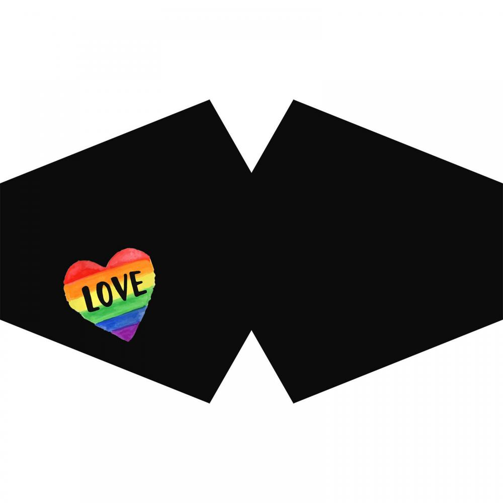 Reusable Fashion Face Covering - Love is Love  (Adult)