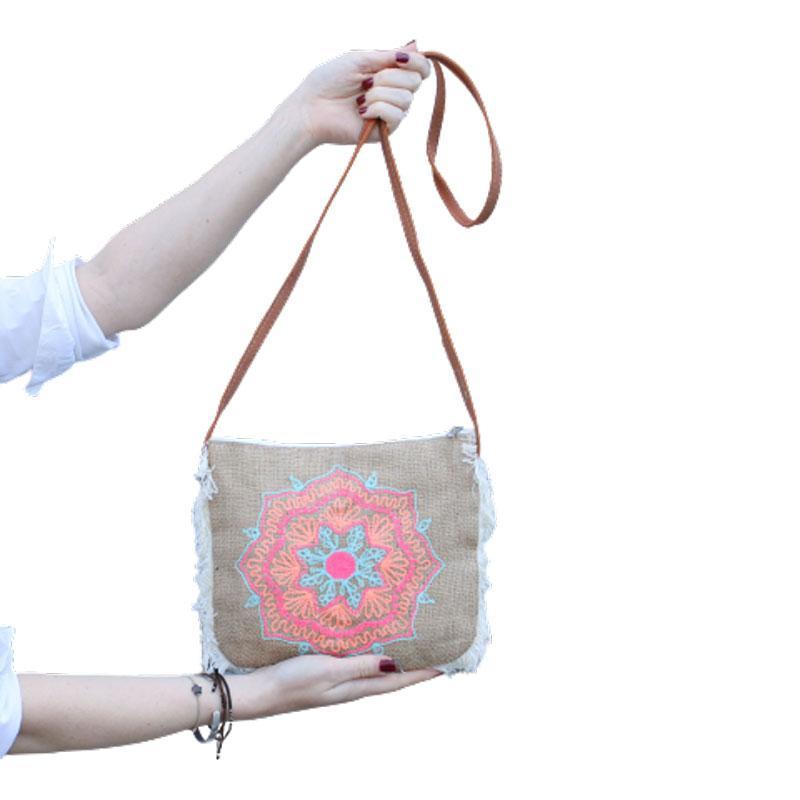 Fab Fringe Bag - Elephant Embroidery