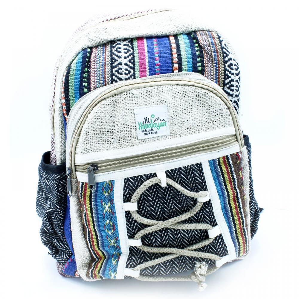 Small Backpack - Rope & Pockets Style