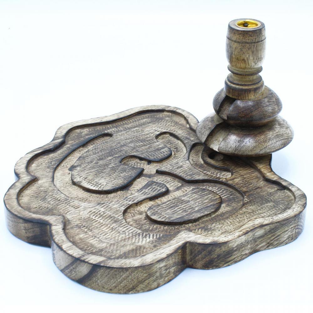 Lrg Mango Wood Backflow Burner - Ohm