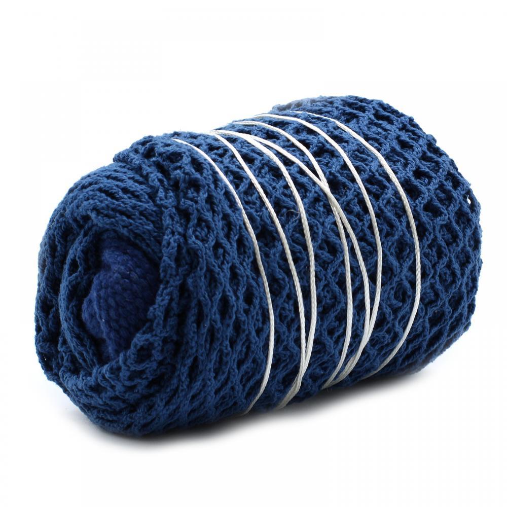 Pure Cotton Mesh Bag - Denim