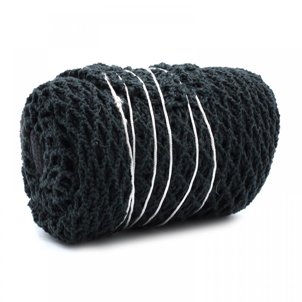 Pure Cotton Mesh Bag - Black