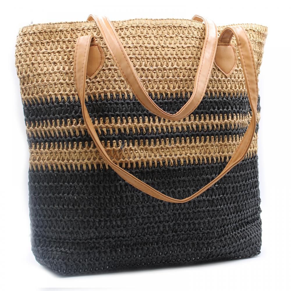 Back to the Bazaar Bag - Black & Tan