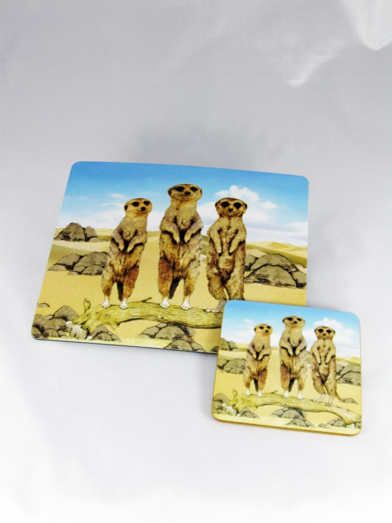 The Classic and Lovable Meerkat Mousemat and Coaster