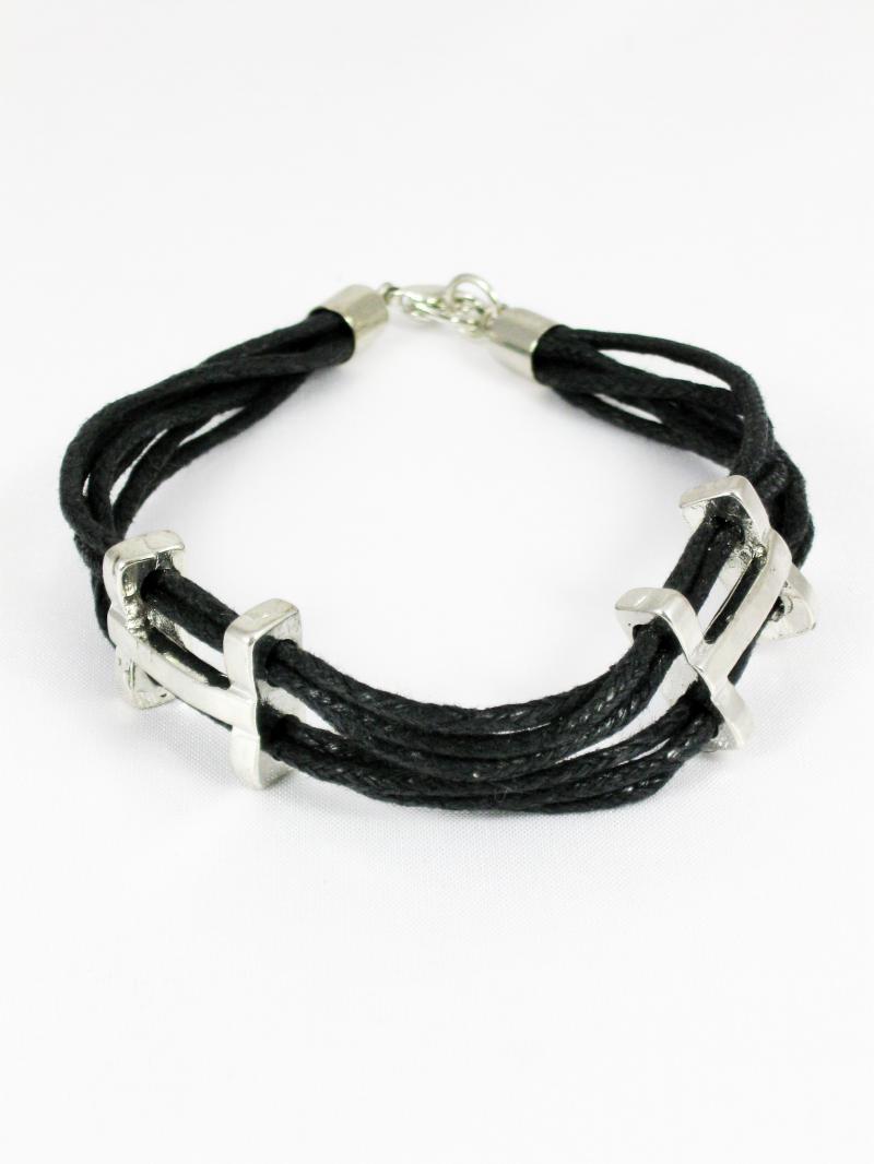 Black and Silver Unisex Bracelet
