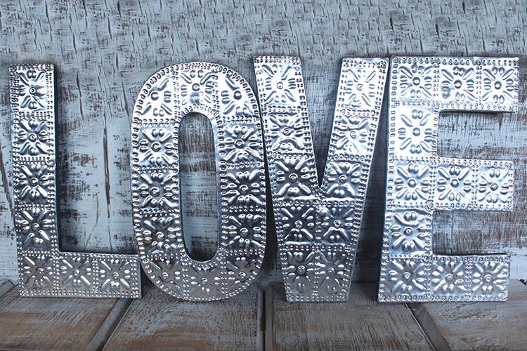 Lrg Arty Aluminum Letters - LOVE
