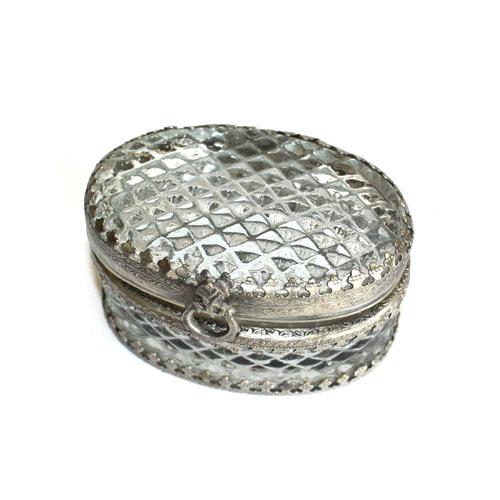 Oval Glass Box