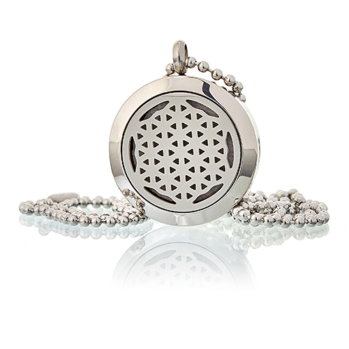 Aromatherapy Diffuser Necklace - Flower of Life 25mm
