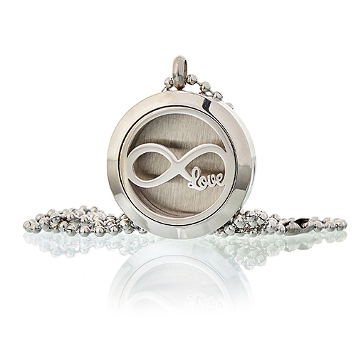 Aromatherapy Diffuser Necklace - Infinity Love  25mm