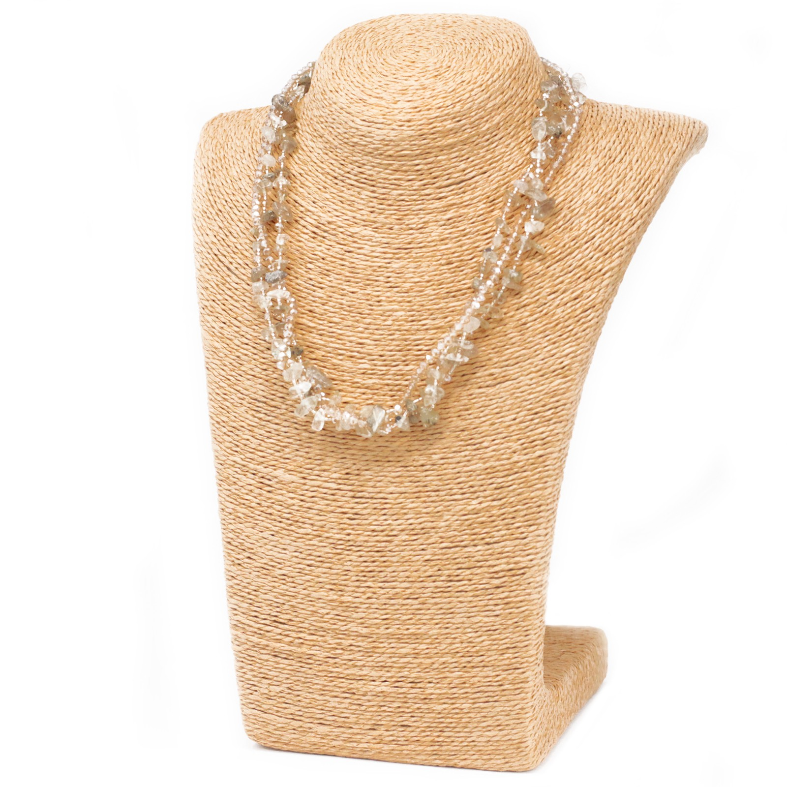 Chipstone & Bead Necklace - Smoky Quartz