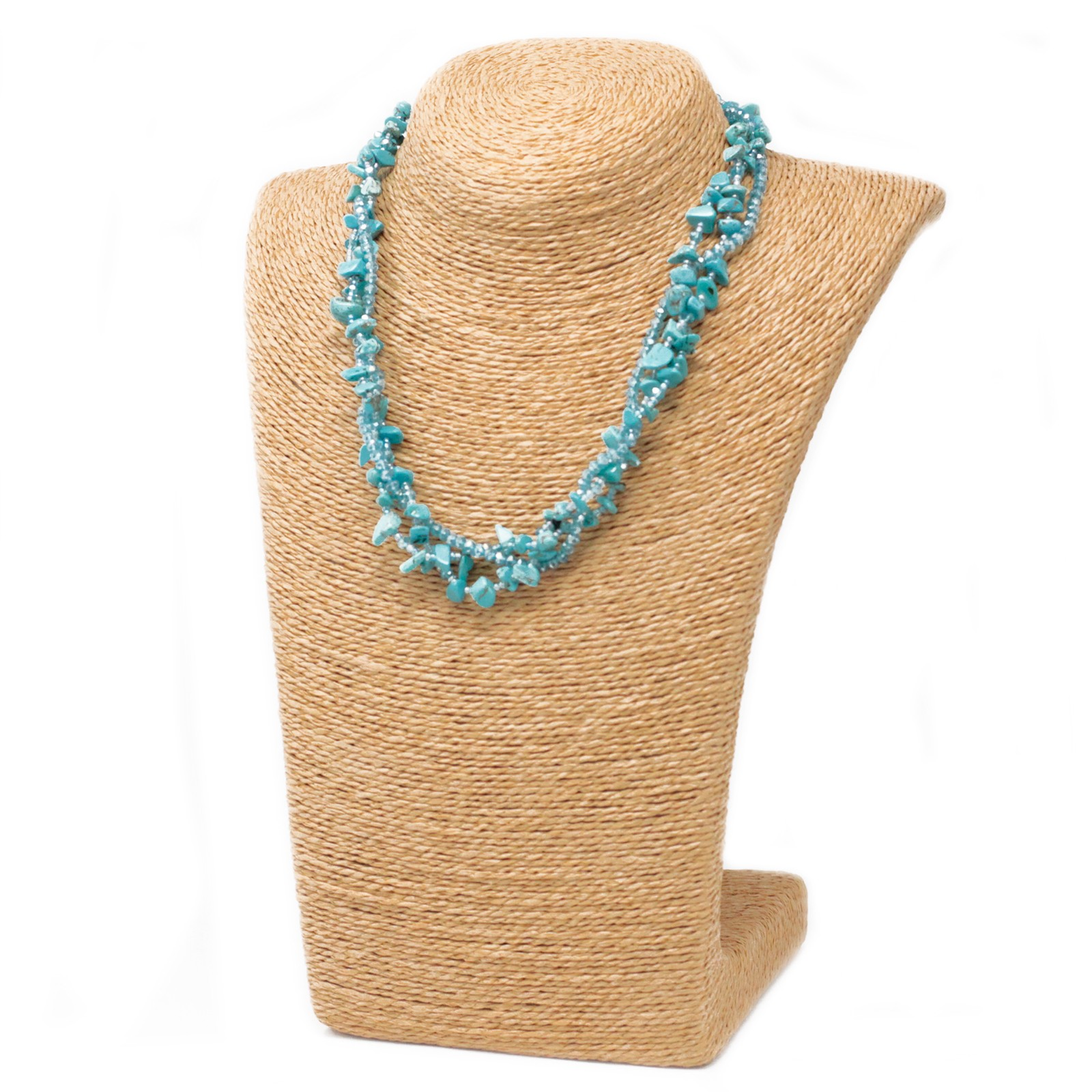Chipstone & Bead Necklace -Turquoise