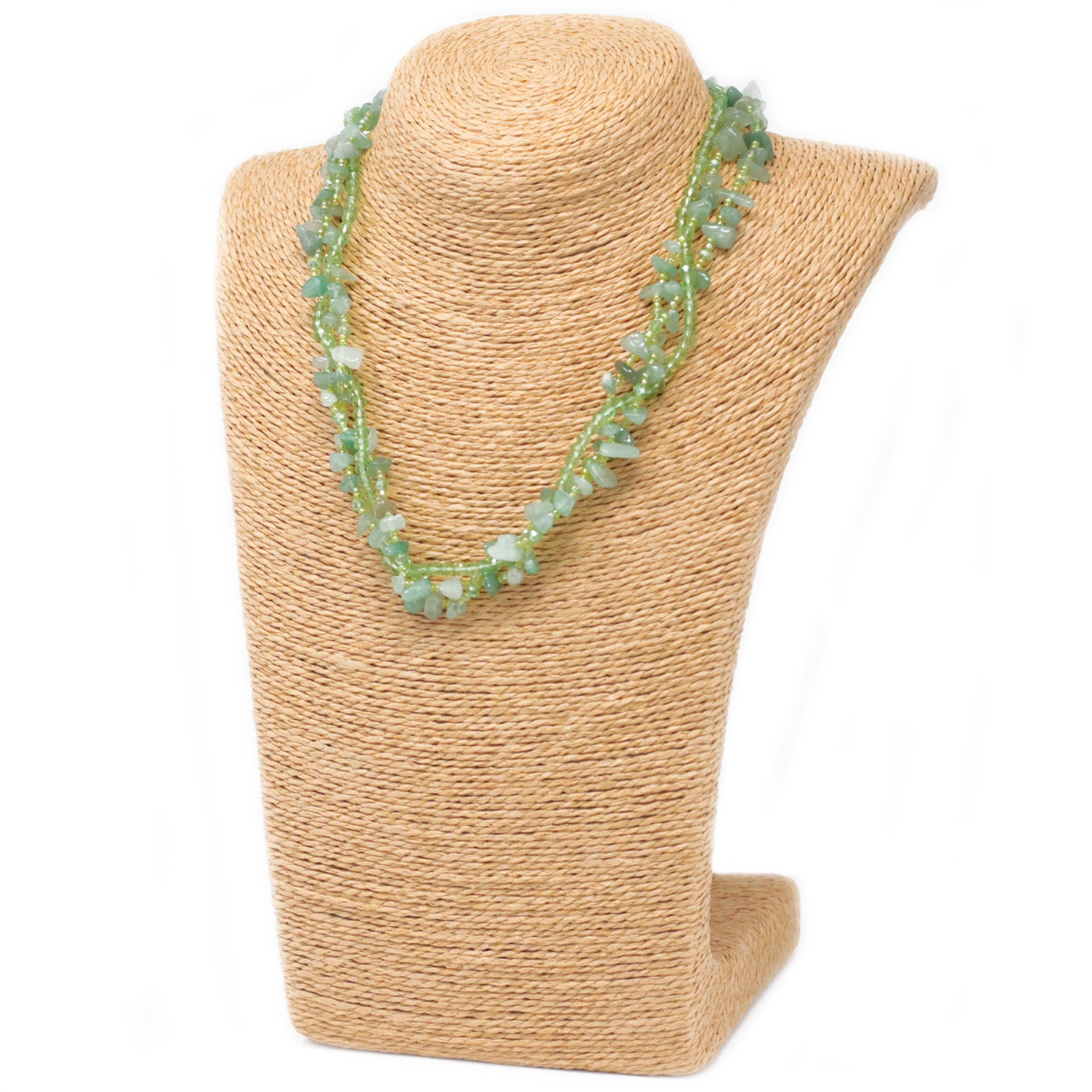 Chipstone & Bead Necklace - Jade