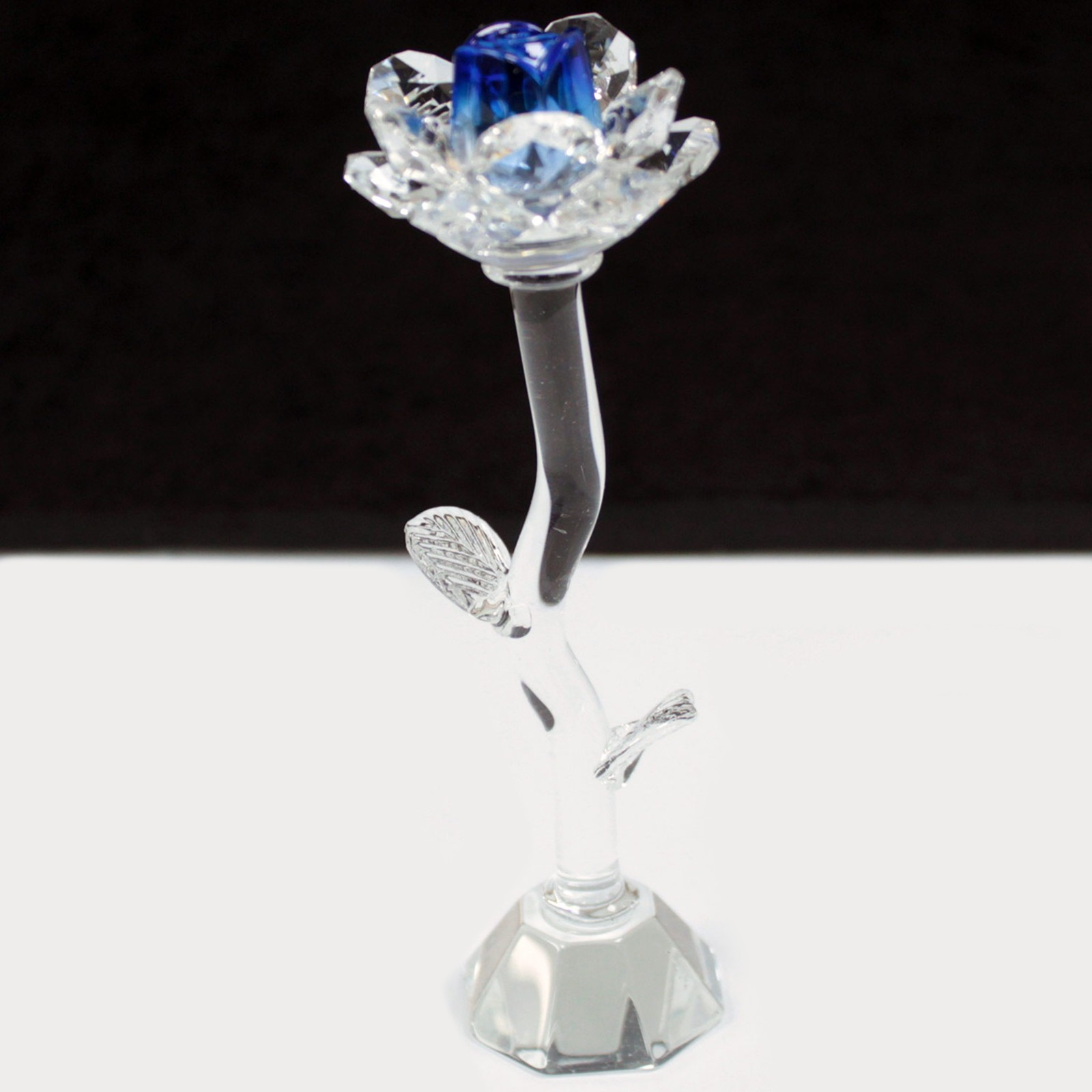 Crystal Rose - Blue - Height 140mm