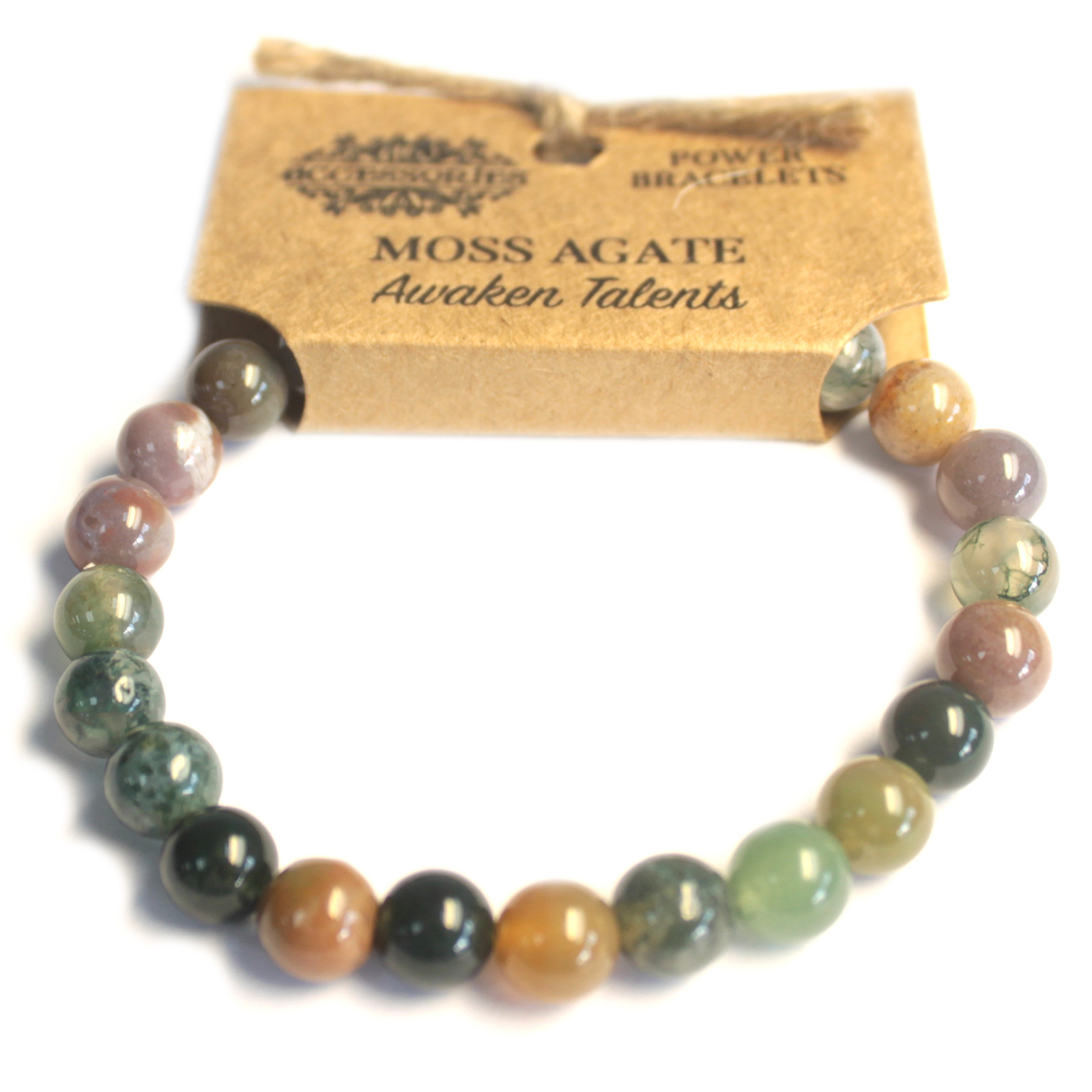 Power Bracelet - Moss Agate