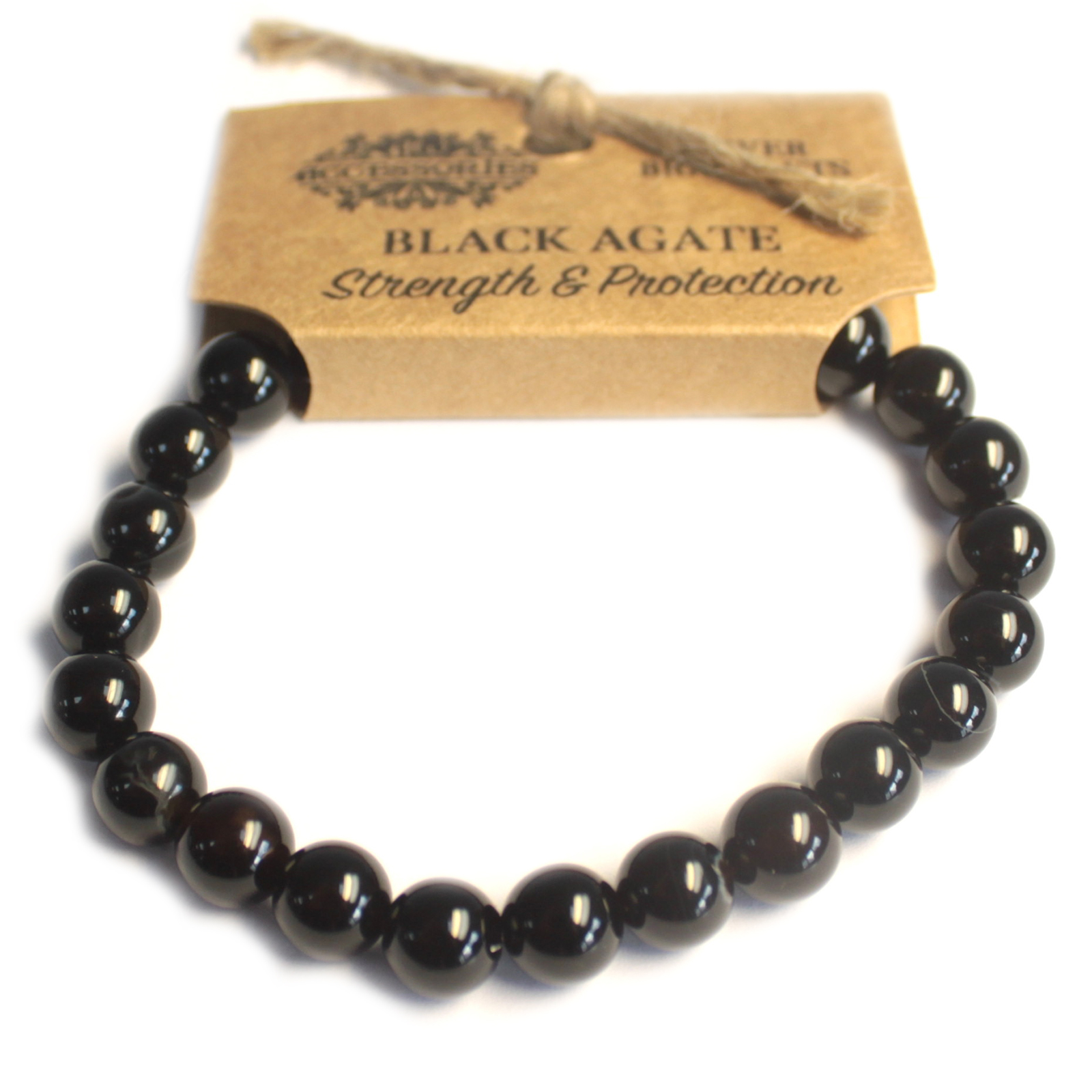 Power Bracelet - Black Agate