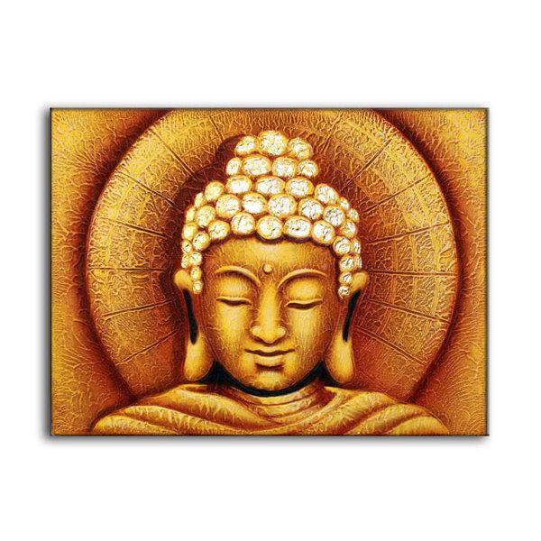 Sun Buddha Golden - Painting