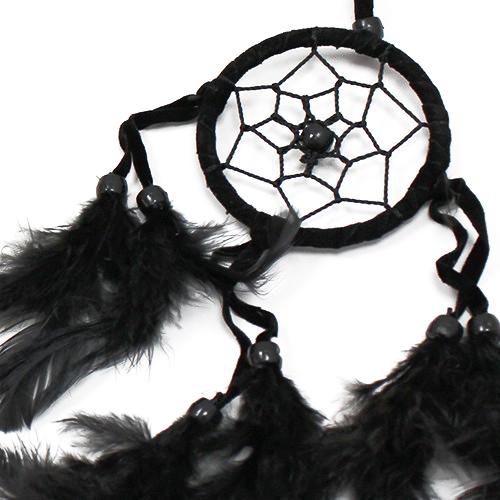 6x Bali Dreamcatchers - Small Round - Black/White/Red