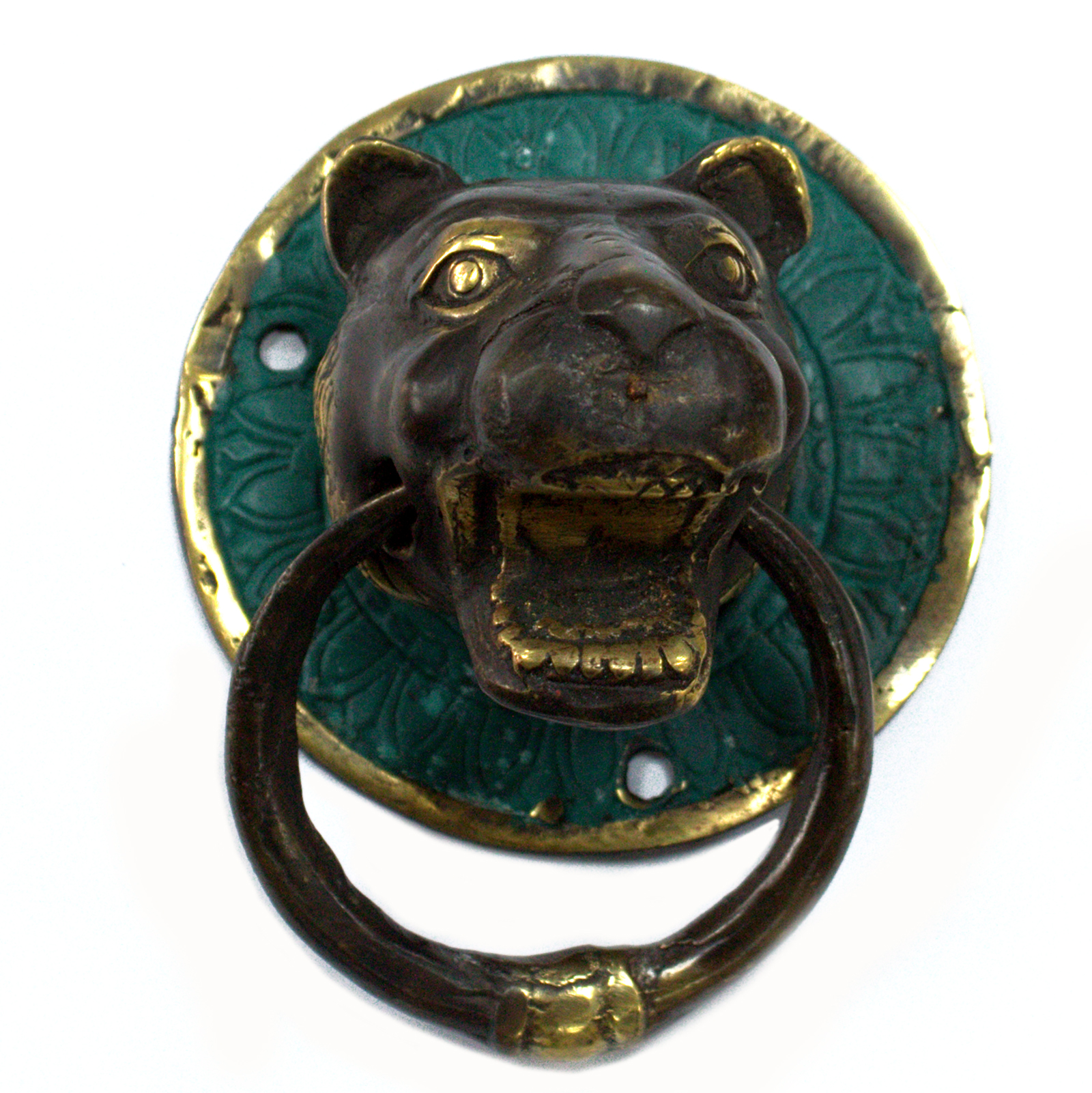 Brass Door Knocker - Tiger Head