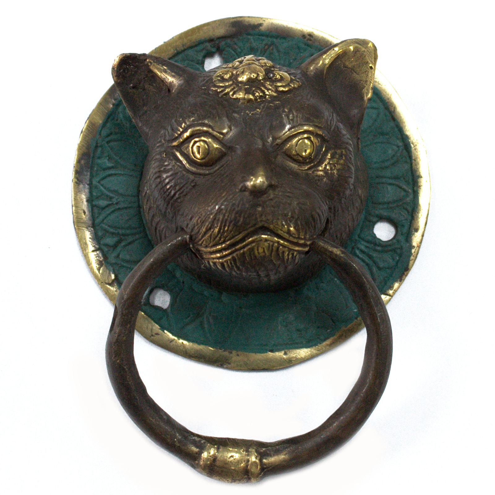 Brass Door Knocker - Cats Head