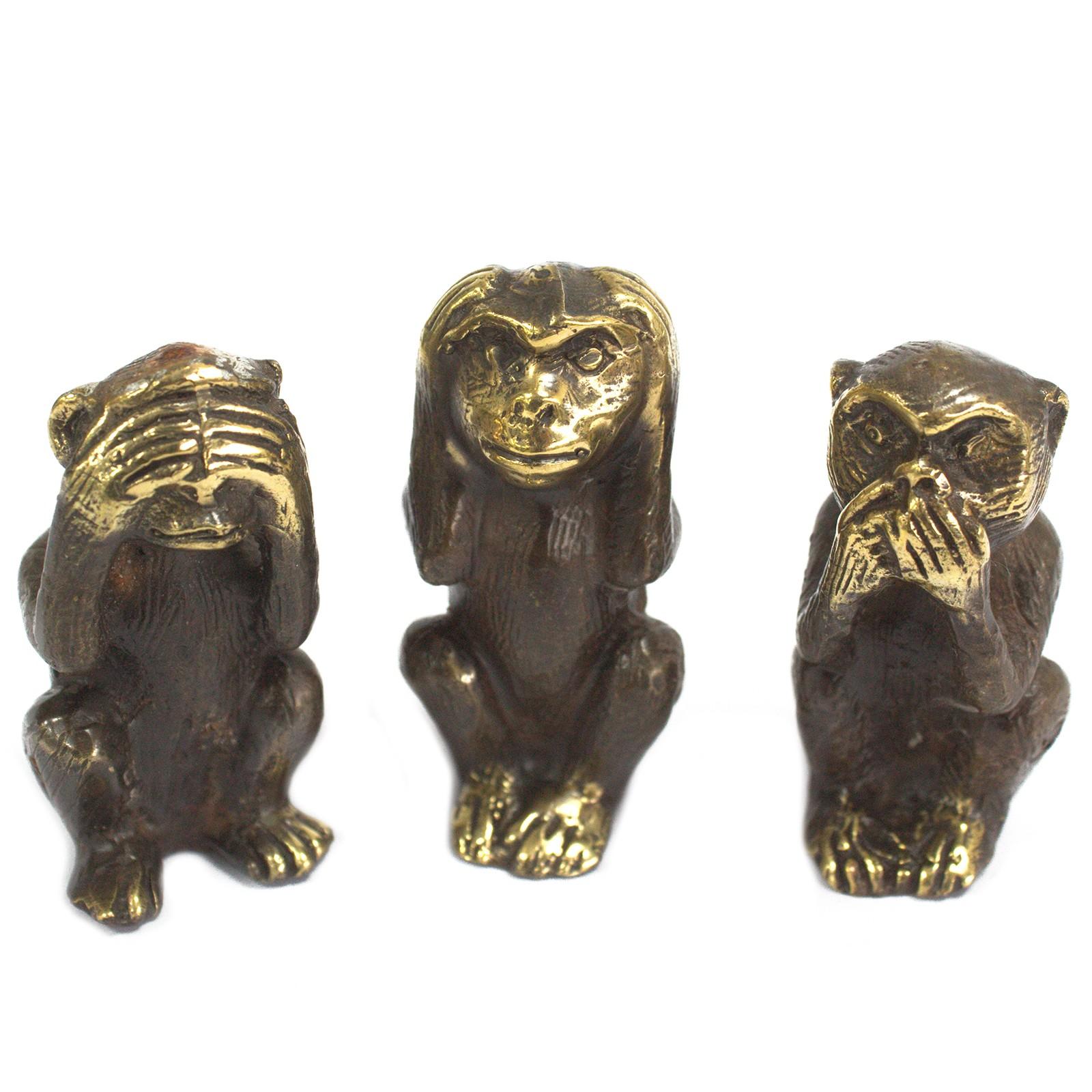 Set of 3 - See No Evil etc - Monkeys