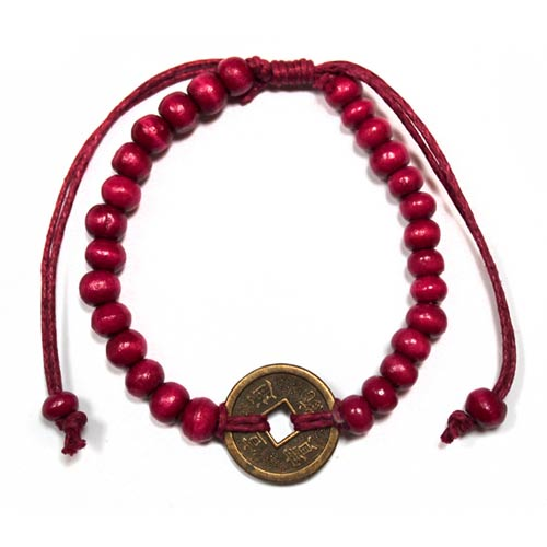 Good Luck Feng Shui Bracelet - Red