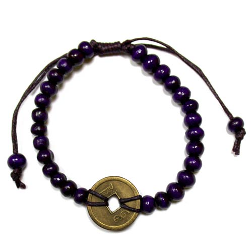 Good Luck Feng Shui Bracelet - Purple