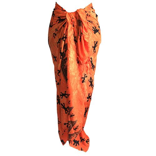 Bali Gecko Sarong - Orange