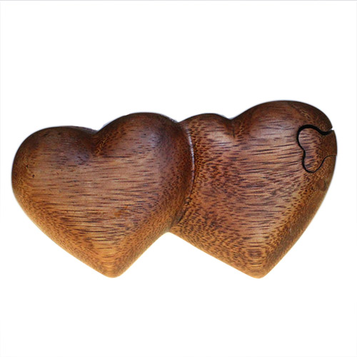 Bali Puzzle Box - Twin Hearts
