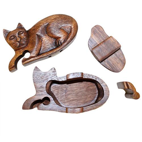 Bali Puzzle Box - Cat