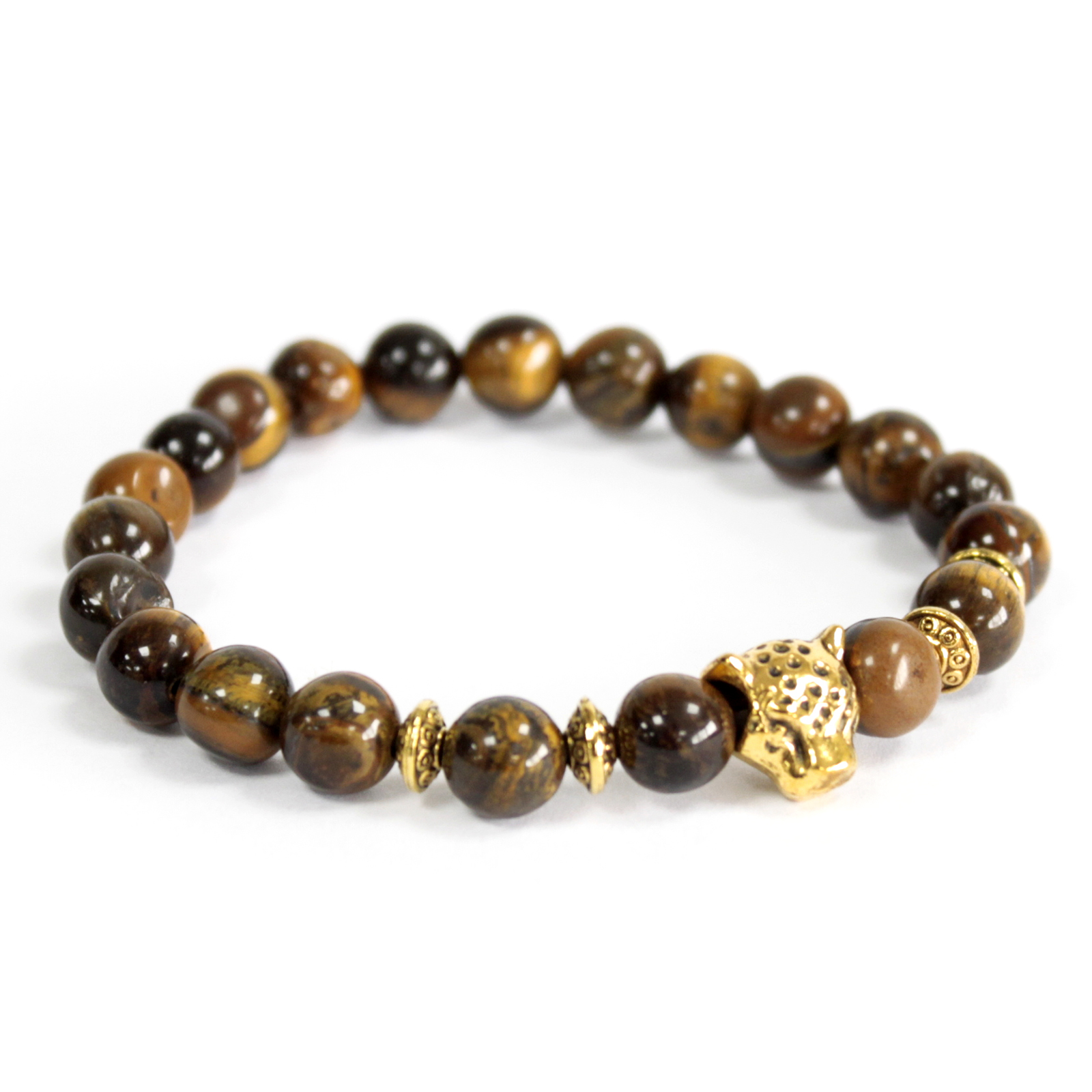 3x Gold Tiger / Tiger Eye - Gemstone Bracelet