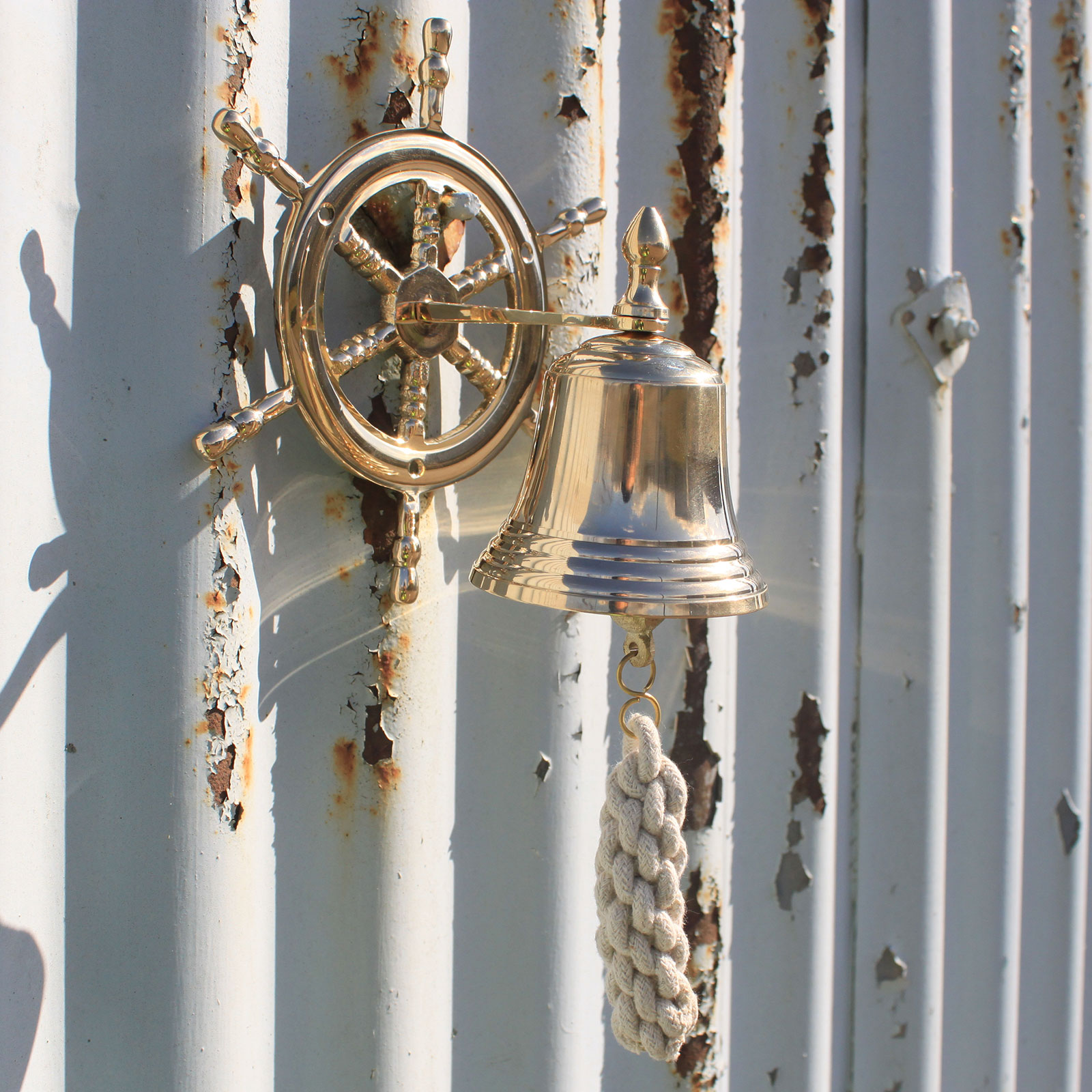 Ships Wheel Bell