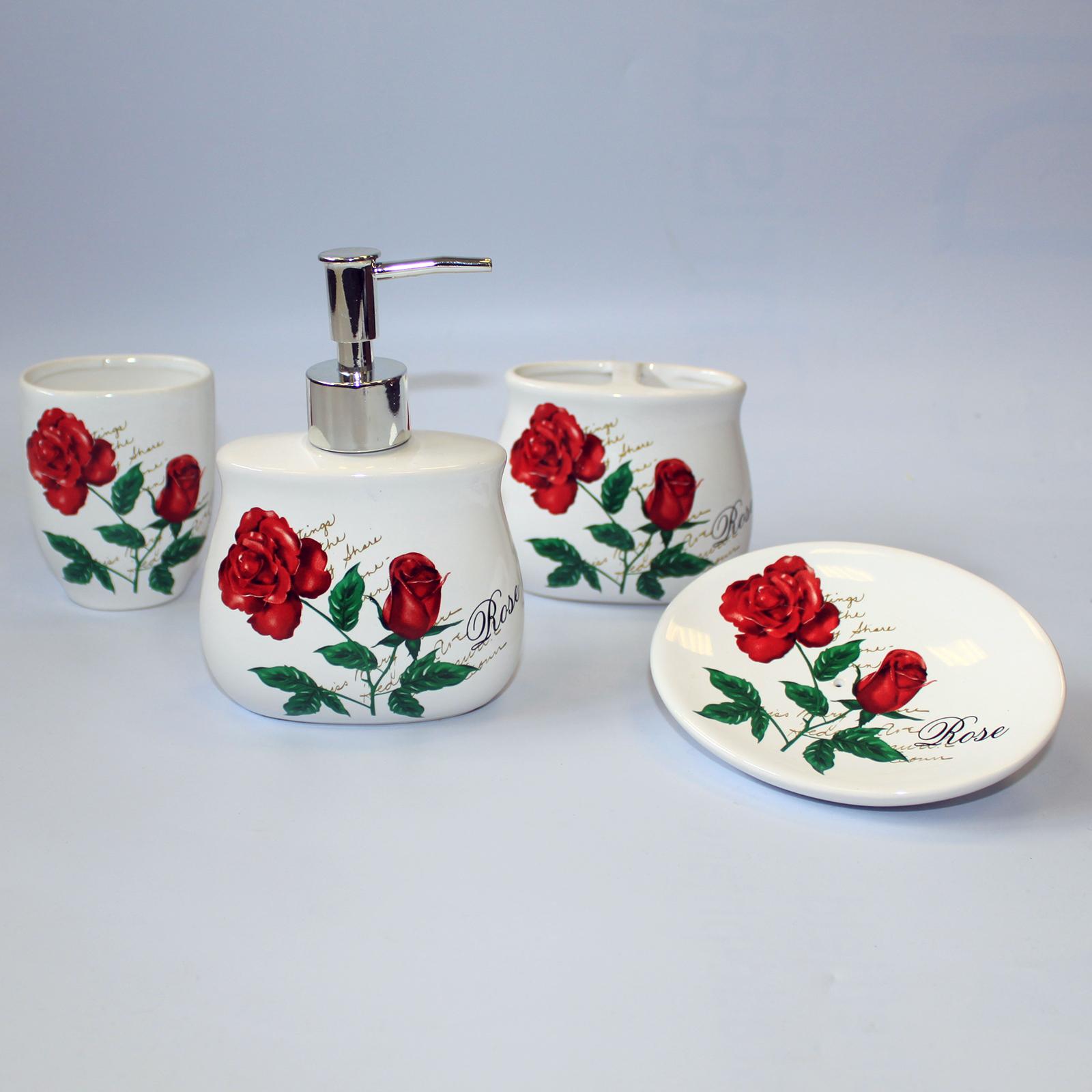 Ceramic Bath Set - Roses in Bloom