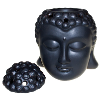 Buddha Head Oil Burner - Black