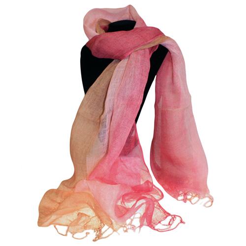 Classic Linen Scarf - Antique Rose Combo